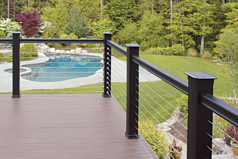 Cable deck railing SC