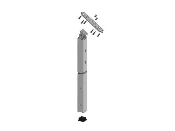 Spectrum 38in Fascia Mount Stair Post Kit