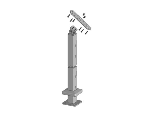 Spectrum 38in Surface Mount Stair Post Kit